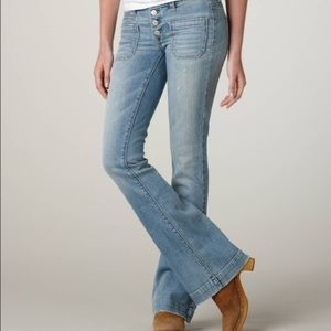 American Eagle Vintage Flare Button Fly Jeans 6